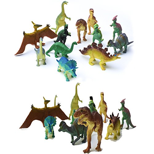 Fun Central AU191 12 Pcs Dinosaur Toy, Plastic