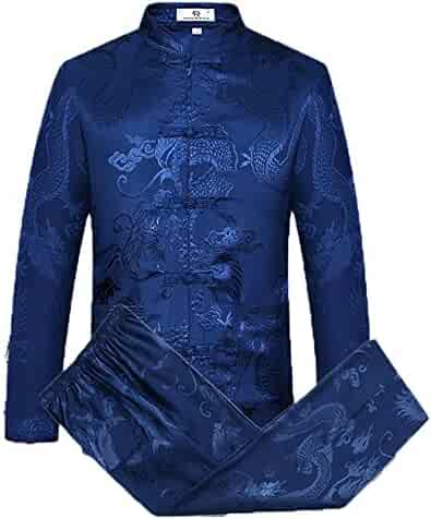 53badf95d Tang Suit Men Traditional Chinese Clothing Suits Hanfu Cotton Long Sleeved  Shirt Coat Mens Tops and