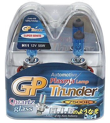GP Thunder H11 7500K 55W Standard Wattage Bulbs Headlamp / Fog Light / Day Time Running Lights (2 Bulbs) ACURA INFINITI FORD Fusion LEXUS TOYOTA HONDA NISSAN MURANO 2015 SGP75K-H11 (Bulb Standard 55w Wattage)