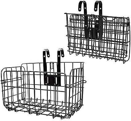 Metal Front Rear Basket Mesh Bracket Storage Shopping Carry Bike Bicycle Cycling