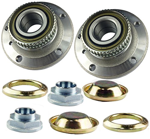 Bapmic 31226757024 Front Left + Right Wheel Hub Assembly for BMW 3 Series Z4 (Pack of 2) (Wheel Bmw Front 525i)