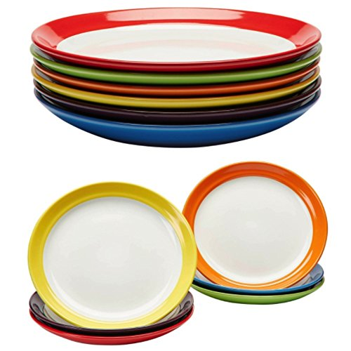 Primrose Colorful Dinner Plates By Madero Kitchen
