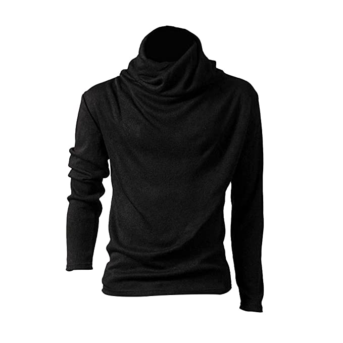 417a0f160d64 mDIycbd Everrikle T- Shirts for Men Autumn Winter Casual Men Solid Color  Cowl Neck Long