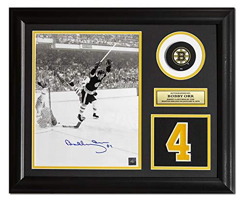 AJ Sports World Bobby Orr Boston Bruins Signed Retired Jersey Number 23x19 - Bruins Framed Orr Boston Bobby