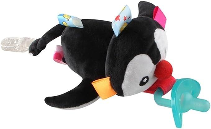 per i pi/ù Piccoli Baby Teething Ciuccio Clip Baby Ciuccio Catena Dummy Catena Succhietto Titolari di Clip Pinguino Peluche Baby Doll per la Dentizione Giocattoli per i Bambini