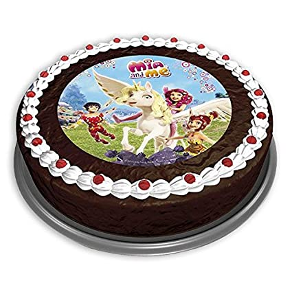 Mia And Me Round Personalized Edible Cake Topper Free Shipping In Canada Home & Garden