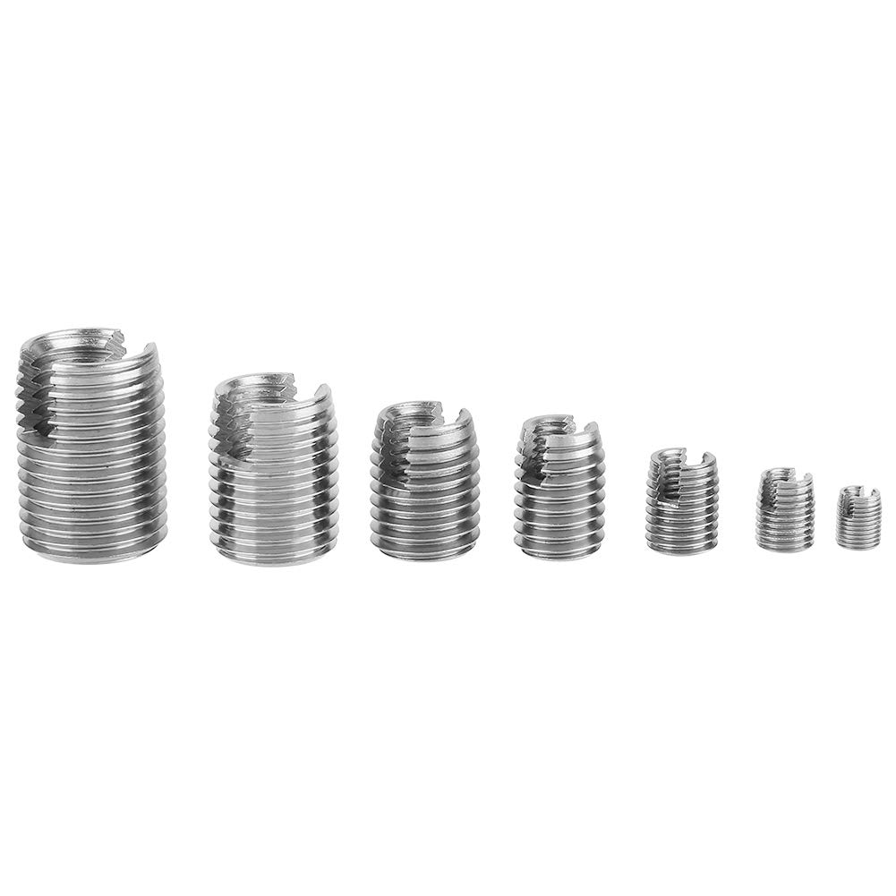 50Pcs 302 Stainless Steel Inner Thread Self Tapping Thread Inserts Set Thread Reinforce Repair Tool by Walfront