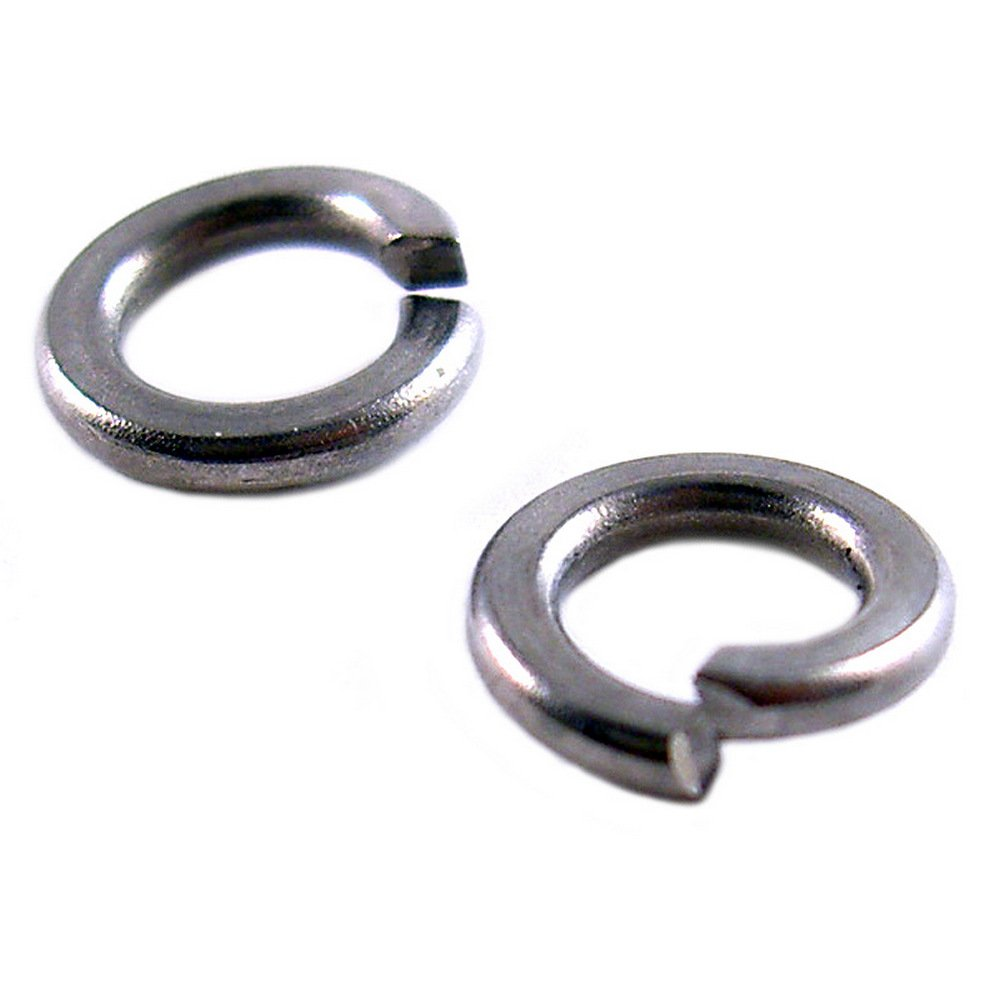 #4 Small Miniature Stainless Steel Spring Split Ring Lock Washers for Machine Screws Or Nuts 10 Pack #4