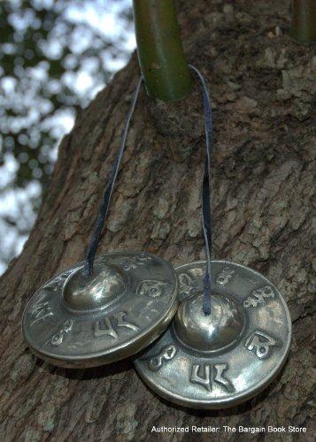 Handmade Authentic Om Mani Padme Hum Mantra Prayer Tingsha Cymbals