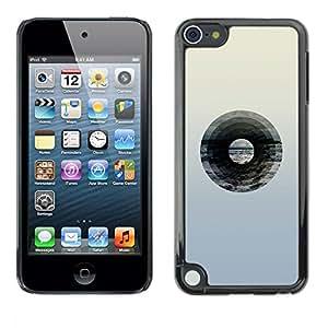 """Pulsar Snap-on Series Teléfono Carcasa Funda Case Caso para Apple iPod Touch 5 , Disco de vinilo de música minimalista Música Artística"""""""
