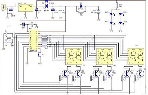 amazon com at89c2051 6 digit led electronic clock parts digital rh amazon com Basic Car Alarm Diagram Car Alarm Circuit Diagram