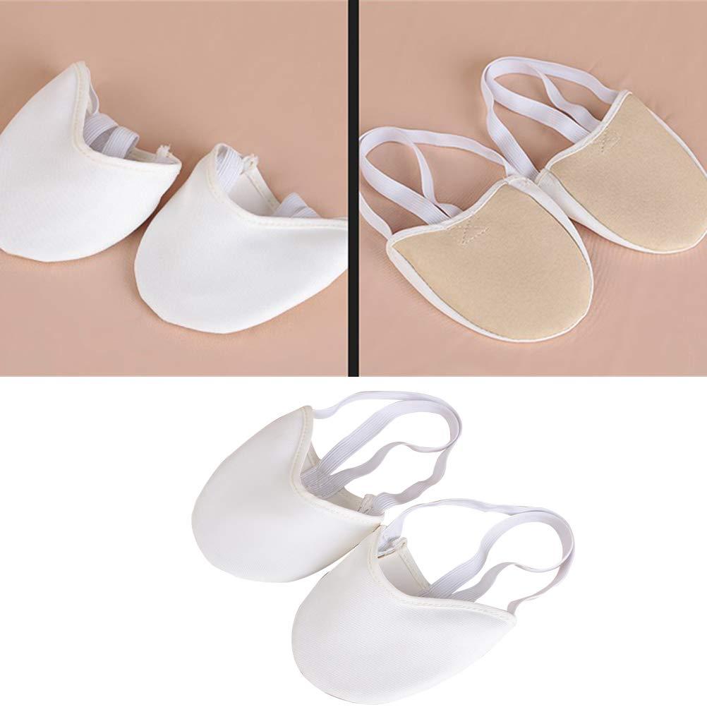 Blanco L LIOOBO Zapatillas de Baile de Media Suela de Media Punta Suaves para Gimnasia R/ítmica de Ballet