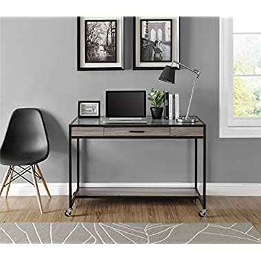 Altra Mason Ridge Mobile Desk with Metal Frame, Sonoma Oak/Black