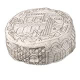 Kippah Bukharan Or Yemenite Bucharian & Yarmulke Hat - Yair Emanuel Judaica HAND EMBROIDEREY HAT JERUSALEM IN SILVER