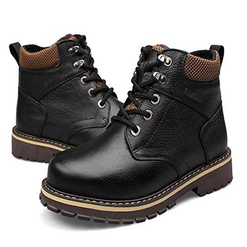 classico alti Plus stivali Maschile corto nero 38 peluche Inverno stile Size qRIISw0Tx