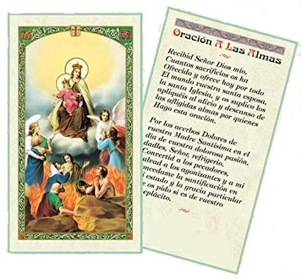 Amazon.com: Oracion por Las Almas del PurgatorioTarjeta de ...