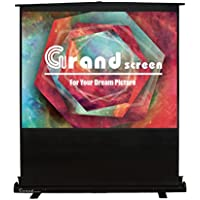 Grand Screens Floor screen with Fiberglass White,100-inch Diagonal 16:9,Floor Pull Up Portable Projection Screen,Model:QYDL100H