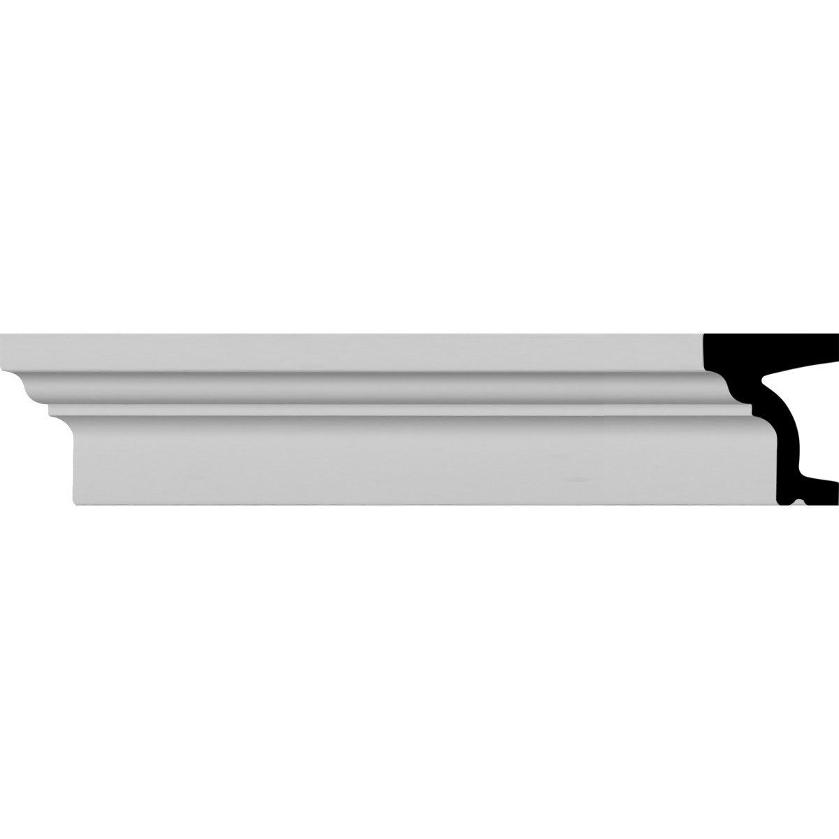 Ekena Millwork MLD05X04ST-CASE-8 5 inch H x 4 inch P x 94 1/2 inch L Standard Moulding (8-Pack),