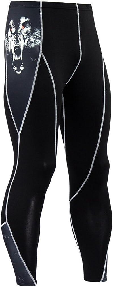 YiJee Secado R/ápido Conjunto Camiseta de Manga Larga y Pantalones de Compression para Hombre