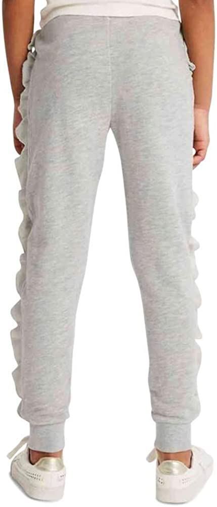 RRP /£12 3-16 Years Marks /& Spencer Ex T743110S M/&S Cotton Rich Grey Marl Frill Girls Joggers