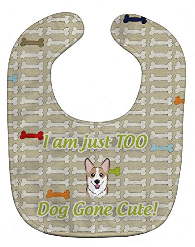 Caroline's Treasures Too Cute Baby Bib, Sable Corgi, Large
