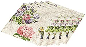 Abbott Collection Charming Garden Paper Napkins, Large (20 pack)