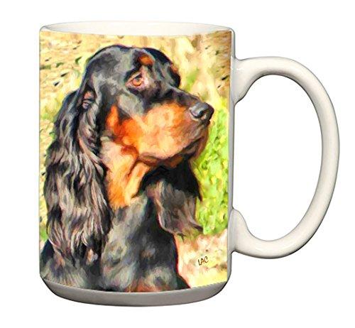 Gordon Setter- 15 Ounce Ceramic Latte Mug By ()