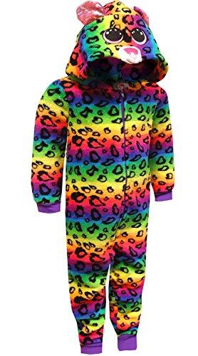 TY Beanie Boo Big Girls' Dotty Beanie Boo Plush Onesie Costume Pajama, Multi, 10/12 (Costume Boo)