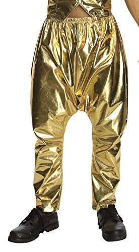 Rap Costume - Rubie's Costume Mc Hammer Lame Pants, Gold, One Size
