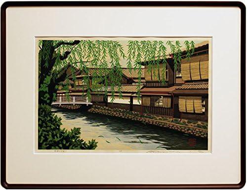 井堂雅夫『古都より白川』木版画