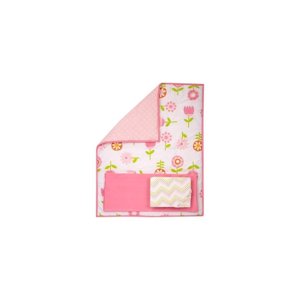 NoJo Pinwheel Floral Fusion 3ピースベビーベッド寝具セット085214099286   B01EUAUDYI