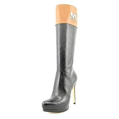 b22369a0be65 Amazon.com | Michael Kors Women Hayley Black Boots Knee High MK Platform  SZ11 | Boots