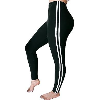 a31b2ade669 Femme Pantalon Leggings Sport Taille Moyenne Pas Cher Sexy Mode A Rayures  Sport Yoga Chic Pants