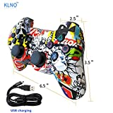 PS3 Controller Wireless Dualshock Joystick - KLNO PS30 (2017 New) Bluetooth Gamepad Sixaxis, Super power, USB Charger, Sixaxis, Dualshock3 including 1 cable For Playstation 3
