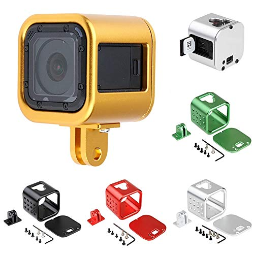 Gavita-Star - 1pc CNC Protective Housing Aluminum Case Cover Frame Base Mount Suitable For GoPro Hero 4 5 Session