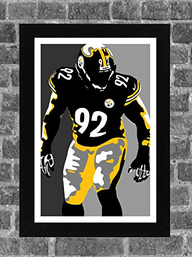 newest collection f74f1 8f92b James Harrison Steelers Memorabilia, Steelers James Harrison ...