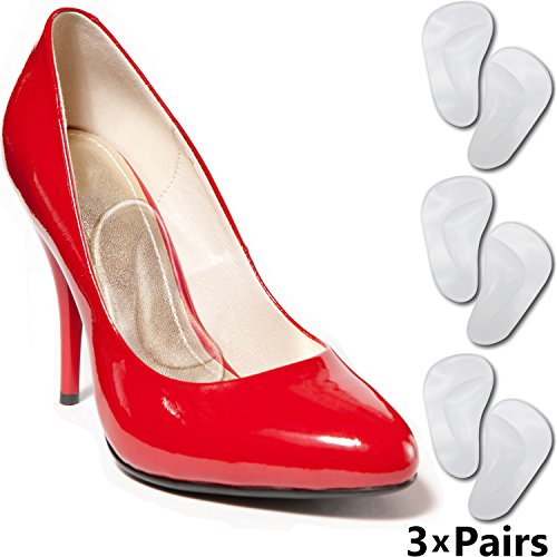 serts - Arch Insoles for Women & Men Shoes. Fast Foot Pain Relief from High Arches or Flat Feet. Cushion Orthotic Supports for Plantar Fasciitis Arch Pain & Top High Heels Insert ()