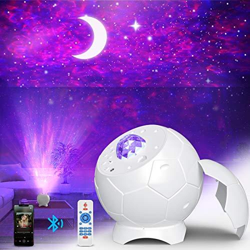 Fezax Proyector de Luz Estelar, LED de Luz Nocturna Giratorio, 28 Modos y Control Remoto, romántica luz estrellada con…