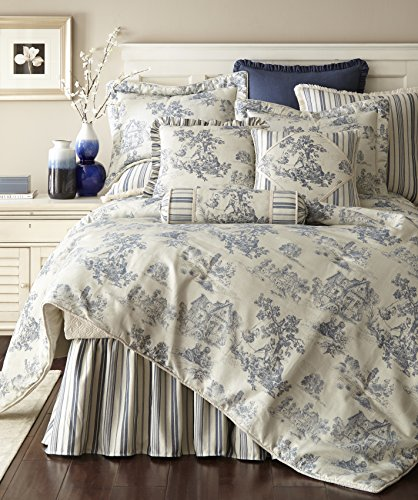 - Ausin Horn Classics Cosmopolitan Toile Blue 3-Piece Comforter Set, California King