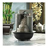 Eternal Steps Tabletop Water & FIRE Fountain TEALIGHT Candle Holder NEW-12302