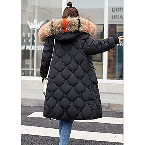 Anteriori Puro Caldo Stlie Invernali Manica Mantello Con Piumini Grazioso Qualità Cappotto Donna Alta Cappuccio Tasche Colore Cerniera Cappotti Di Schwarz Transizione Lunga qRwgIgWEzc