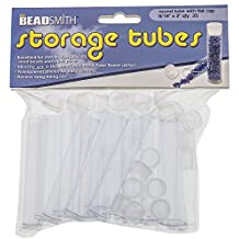 Tube Plastic Rnd W/flat Cap, 3 X 9/16 -25/bg - PT3-R by Beadsmith