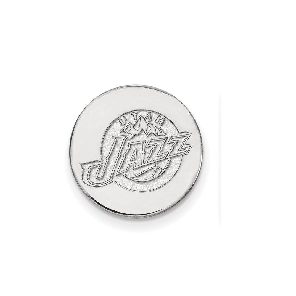 NBA Utah Jazz Lapel Pin in 14K White Gold