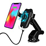 TOFOCO Qi Wireless Car Charger Mount, Automatic Gravity Fast Wireless Charging Cell Phone Holder, Compatible with Samsung Galaxy S9 Plus/S9, S8 Plus/S8, S7/S7 Edge(Black)