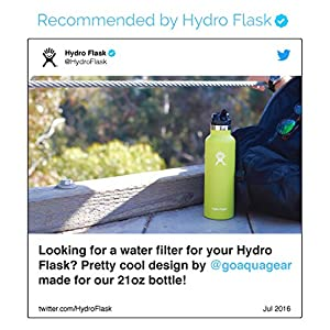 Filter for Klean Kanteen/Hydro Flask - Aquagear Straw Cap Filter fits Klean Kanteen and Hydro Flask Stainless Steel Bottles - Removes Chlorine, Fluoride, Lead - BPA-Free 75 Gallon Filter Capacity