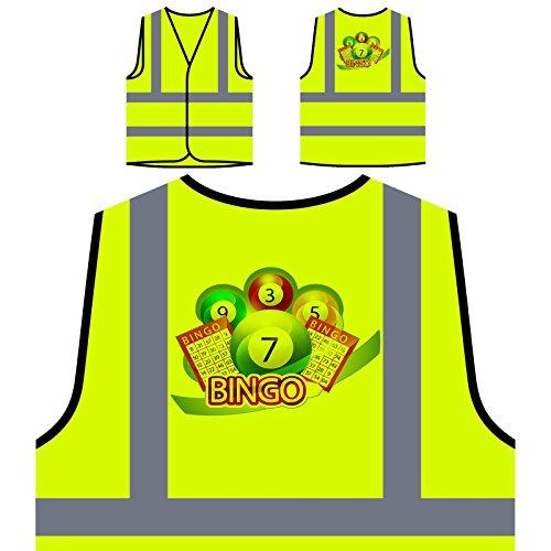 Bingo Game Lottery Win Success Gift Personalized Hi Visibility Yellow Safety Jacket Vest Waistcoat e926v