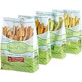 Peas of Mind Veggie Wedgies Variety Pack, 12-Ounce Bags (Pack of 4)