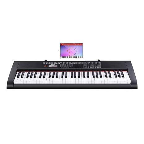 LIUFS Teclado 61 Teclas para Piano electrónico Estudiante Principiante con cítara Tipo Z