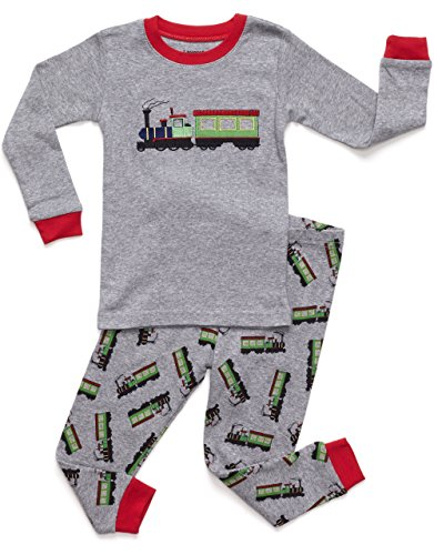 Leveret Train 2 Piece Pajama 100% Cotton (6 Years)]()