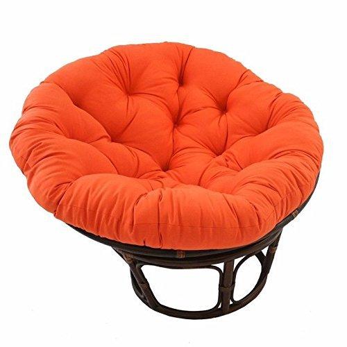 International Caravan Bali Rattan 42 Papasan Chair Tangerine Dream Home Garden Decor Sofa